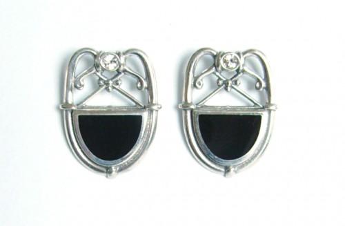 Art Deco Ohrstecker 925 Silber, mondän und strahlend schön