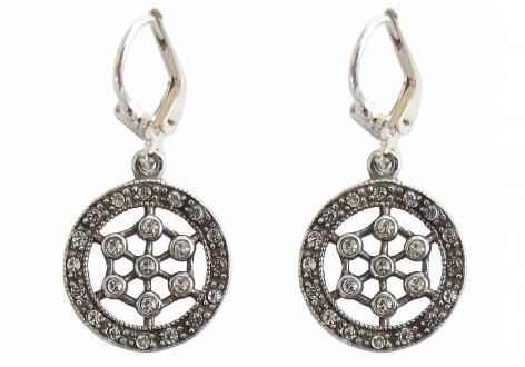Art Deco Ohrringe Ohrhänger 925 Silber mit Swarovskikristallen