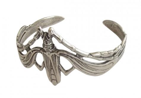 Damen Armspange 925 Silber Grille im Jugendstil
