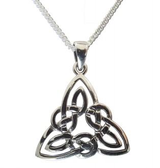 Damen Halskette Keltischer Knoten 925 Silber