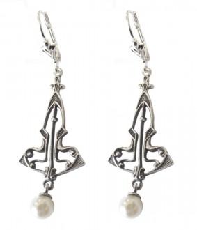 Ohrringe 925 Silber Perlenabhängung
