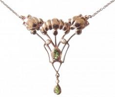 Antik Collier Halskette Kette mit Peridot