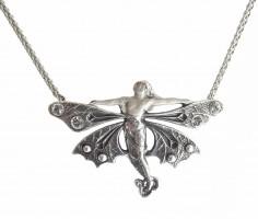 Jugendstil Schmuck Halskette Collier geflügelte Frau