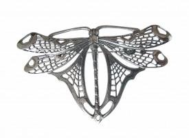 Jugendstil Schmuck Brosche in Form einer Libelle