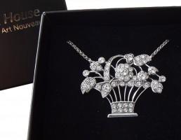 Art Deco Halskette im Gatsby Stil