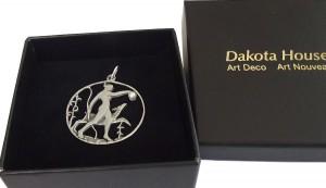 Erlesener Jugendstil Anhänger Diana 925 Silber