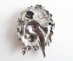 Jugendstil Brosche bzw. Anhänger Amor 925 Silber mit feinen Details
