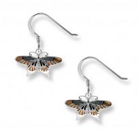 Ohrringe Ohrhänger Schmetterling mit Fensteremail
