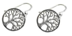 Ohrringe Lebensbaum 925 Silber in hübscher Geschenkbox