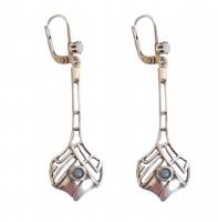 Jugendstil Ohrringe mit Opal