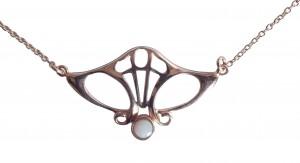 Antik Halskette mit Opal
