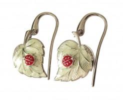 Ohrringe 925 Silber Saphire Glücksbringer Amulett