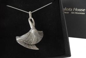 Halskette 925 Silber mit Markasiten Art Deco Stil