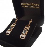 Damen Ohrringe 925 silber rose teilvergoldet mit Blautopas