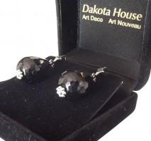 Damen Ohrringe Onyx 925 Silber im Stil der Zwanziger Jahre
