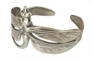 Damen Armspange 925 Silber Libelle im Jugendstil