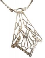 Elegante Damen Halskette Blautopas Markasiten Perle