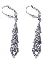Damen Ohrringe 925 Silber mit Markasiten