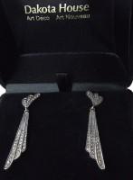 Damen Ohrringe 925 Silber mit Markasiten Roaring Twenties