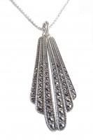 Damen Halskette 925 Silber mit Markasiten Roaring Twenties