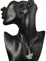 Schmuckset Halskette Ohrringe im Deutschen Art Deco Stil