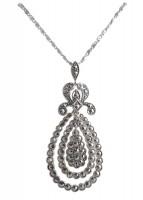 Silberhalskette mit Markasiten viktorianischer Stil