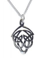 Damen Halskette kleiner Keltischer Knoten 925 Silber