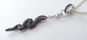 Damen Halskette Schlange 925 Silber