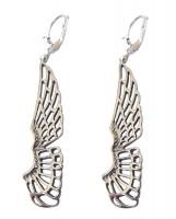 Jugendstil Ohrringe Schwanenflügel 925 Silber