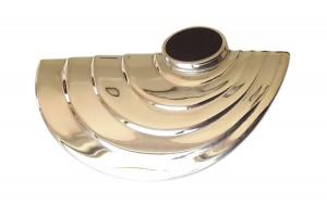 Art Deco Brosche aus 925 Silber mit Schmuckemaille