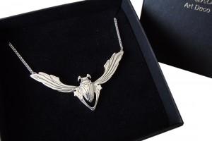 Halskette 925 Silber Jugendstil Maikäfer