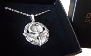 Halskette Jugendstil 925 Silber Calla
