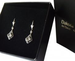 Ohrringe 925 Silber Swarovskikristall Vintage Style